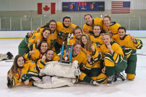 The girls ice hockey team, took on Walled Lake Western, but were unable to come out on top